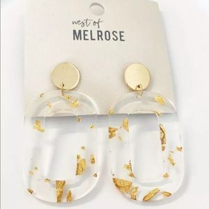 West Of Melrose Gold Confetti Acrylic Earrings